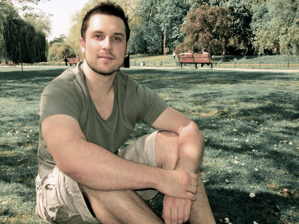 Sitting in Regent Park.